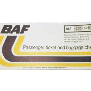 BAF British Air Ferries Airline Ticket