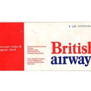 British Airways Negus Ticket