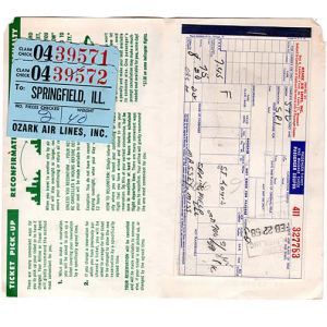 Ozark Air Lines Ticket & Envelope