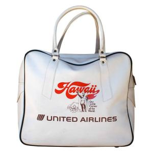United Airlines Hawaii Travel Bag 1970s