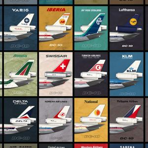 (NEW) DC-10 Empennage Airliner Poster – 11 x 17 (2020) 1st Edition