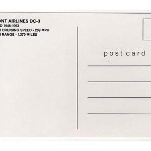 Piedmont Airlines DC-3 Postcard
