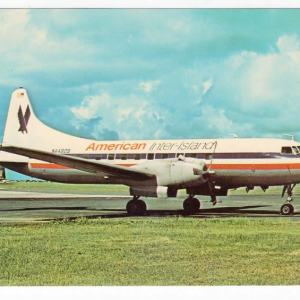 American Inter Island Convair CV-440 Postcard