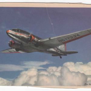 American Airlines DC-3 Classic Postcard