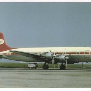 British Island Airways DC-6 Postcard