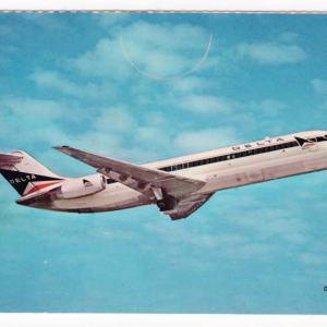 Delta Air Lines Douglas DC-9 Postcard