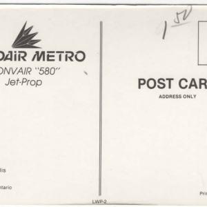 Nordair Metro Convair CV-580 Postcard