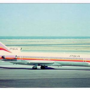 PSA Airlines Boeing 727-200 Postcard