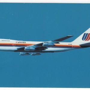 United Air Lines Boeing 747 Postcard