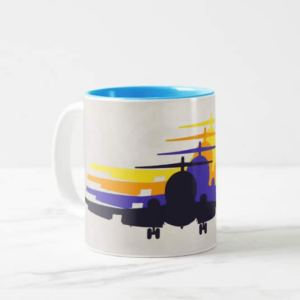 Retro Airliner Jet Age Mug