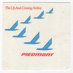 Piedmont Airlines Paper Napkin – Slogan