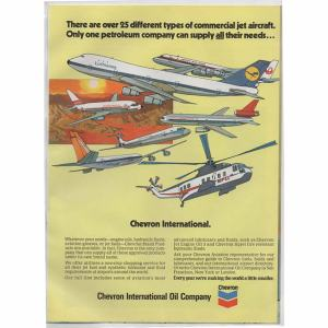 Chevron Oil Company Airlines Advertisement