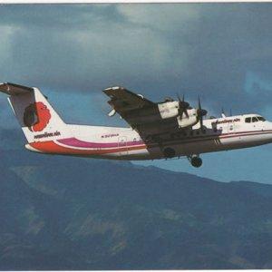 Hawaiian Airlines De Havilland Dash-7 Airplane Postcard