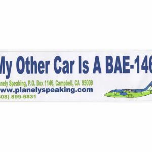 My Other Car is A BAe-146 Vinyl Bumper Sticker