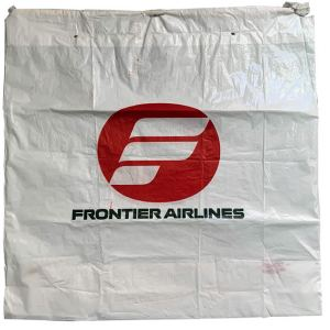 Frontier Airlines Drawstring Plastic Bag