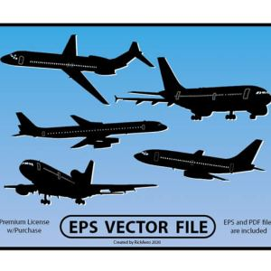 Airline Jet Silhouette and L-1011 File (V2)