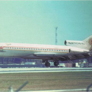 National Airlines Boeing 727-200 Postcard