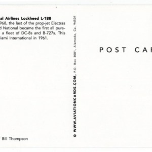 National Airlines Lockheed Electra Postcard