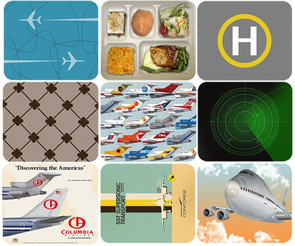 Retro Airlines Mid Century Jet-Age Mouse Pad