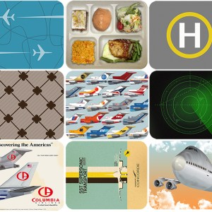 Retro Style Airline Jet-Age Mouse Pads
