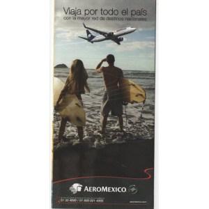 Aeromexico Airlines Boarding Ticket Envelope