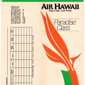 Air Hawaii Airlines Boarding Ticket Envelope