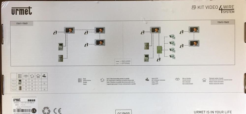 medium resolution of  urmet intercom 4 aurine a4 m1am e8c urmet 17182 video intercom gate and fence urmet intercom