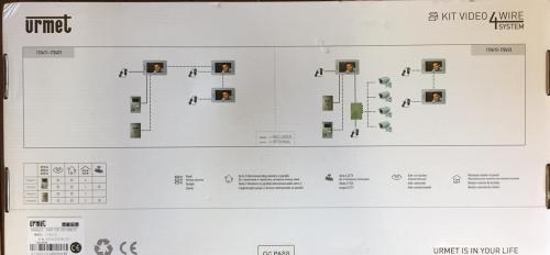 small resolution of  urmet intercom 4 aurine a4 m1am e8c urmet 17182 video intercom gate and fence urmet intercom