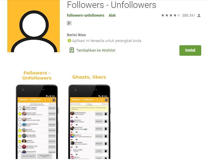 Aplikasi penambah followers unfollowers