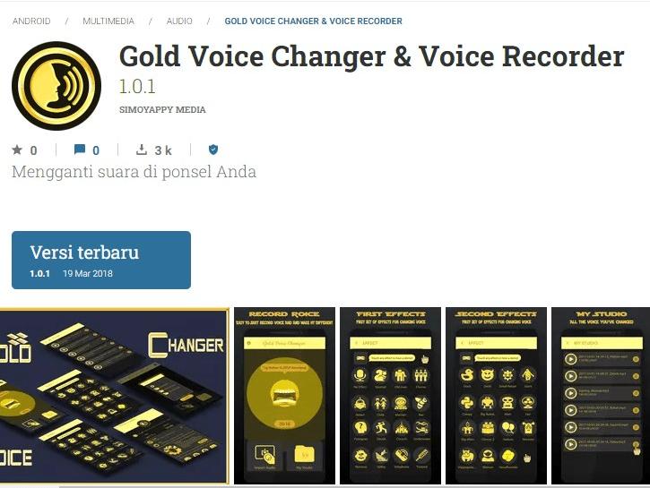 Gold Voice Changer & Voice Recorder