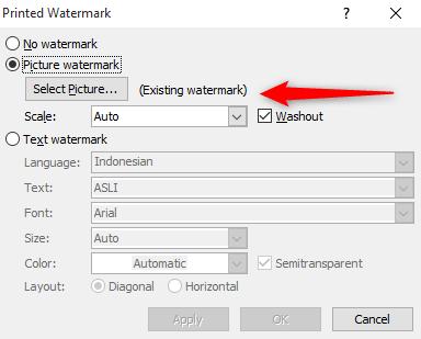 pilihan watermark