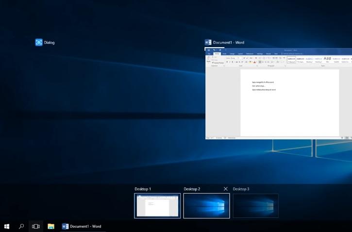 Fitur Multi Desktop
