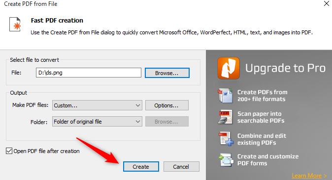 Klik option dan setting