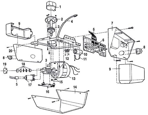 [Get 44+] Sears Craftsman 12 Hp Garage Door Opener Parts