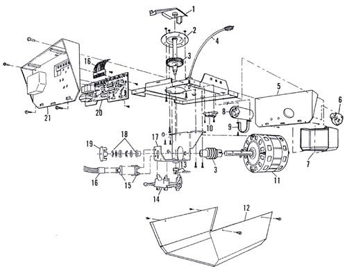 sears 139.53606 garage door opener parts
