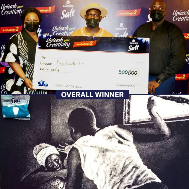 Artist Timothy Undiandeye Wins Dangote Salt Art Challenge 2021