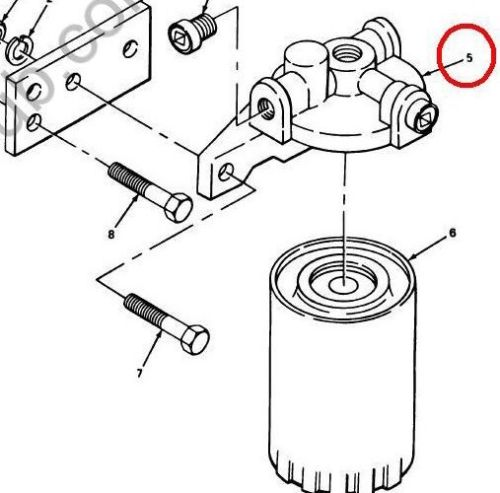 spin on fuel filter mount