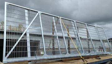 commercial mesh sliding cantilever gate_compressed