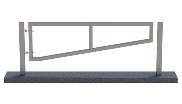 manual metal traffic swing barrier_compressed