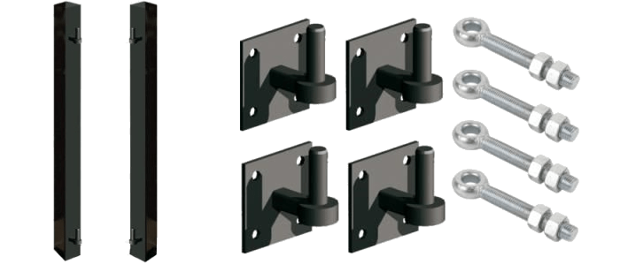 Metal hinges and lugs