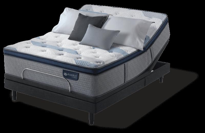 icomfort hybrid blue fusion 300 plush pillow top mattress