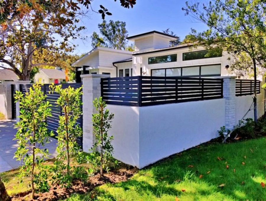 homeowner in Studio City chooses Mulholland Brand Aluminum Fencing and Gates
