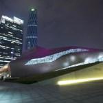 Guangnzhou Opera House at night