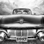 Black and white image I made of a 57 Pontiac