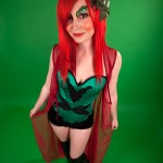 Poison Ivy on green background