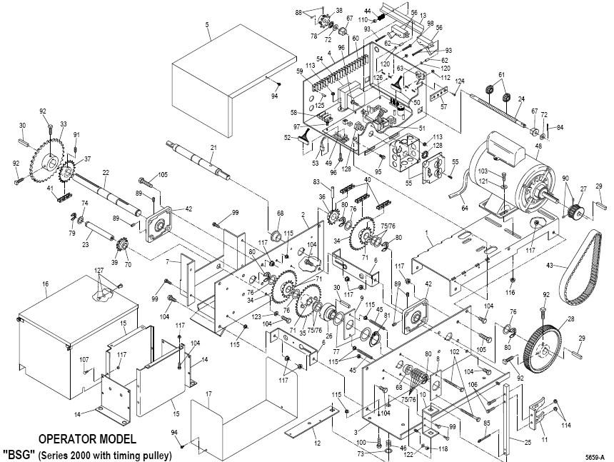 Replacement Parts-PowerMaster BSG Slide Gate Operator