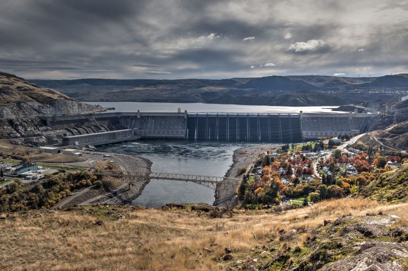 Grand Coulee Dam view from Viewpoint