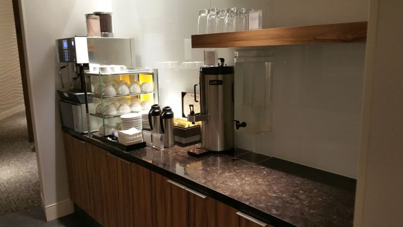 """Coffee machine at the """"secret"""" seating area"""
