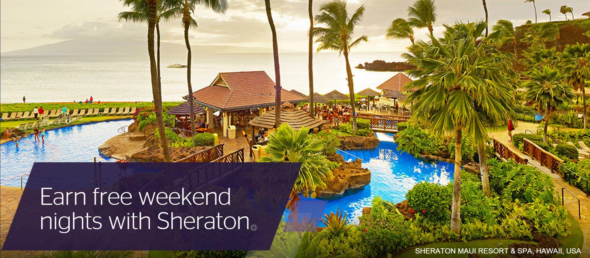 Earn free weekend nights with Sheraton