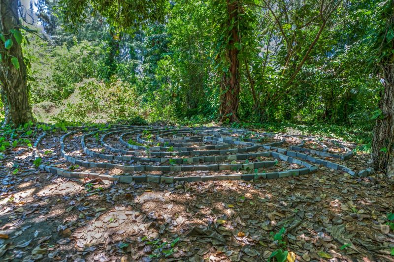 Hidden stone maze